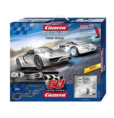 Carrera - Circuito Digital 132 Time Race, 8.2 metros (Circuito 50º Aniversario) Porsche 918+Porsche 904 con mandos Wireless 2.4 GHz, escala 1:32 (20030168) de Carrera