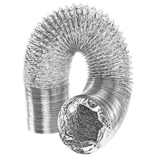 spares2go Universal 5m extra lang Aluminium Flexible Trockner Vent Schlauch Auspuff (10,2cm/100mm) -