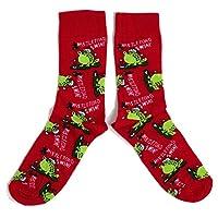 Mens Mistletoad & Wine Mistletoe Toad Frog Socks UK 6-11 / Eur 39-45 / US 7-12