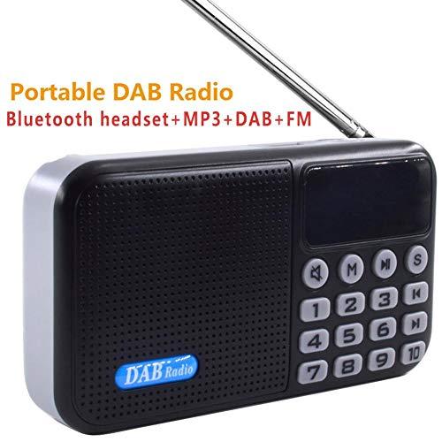 iYoung Tragbares Radio, Digital Radio DAB und FM Tragbares und wiederaufladbares tragbares Radio mit Bluetooth-Lautsprecher MP3-Player USB-Netzteil mit Akku, Schwarz Panasonic Portable Headset
