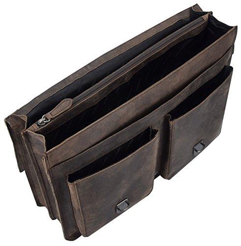 Chiemsee Valencia Aktentasche Leder 39 cm braun