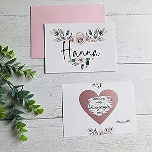 Karte Willst du meine Trauzeugin sein, Rubbelkarte, Hochzeit, Trauzeugin fragen, Personalisierte Geschenke - Rosa