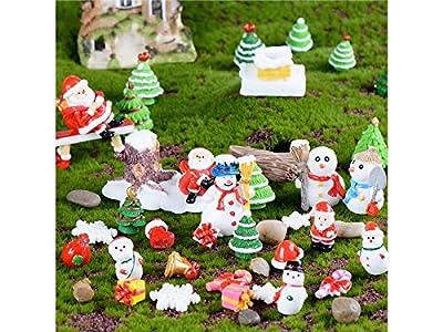 GHJFGJNF Miniatur Weihnachten Schneemann Dekoration Bonsai Micro Landschaft DIY Handwerk Garten Ornament (weiß) Gartendekorationsstein von GHJFGJNF auf Gartenmöbel von Du und Dein Garten