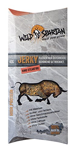 Wild Spartan Jerky Rind Steakfire, 5er Pack (5 x 40g)