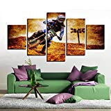 Canvas Painting 5 Piece Home Decor Printed Art Motorcycle Panel Wall Picture for Living Room Poster Modern Home Decoration SJDBF