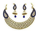 Zaveri Pearls Gorgeous Kundan With Blue ...