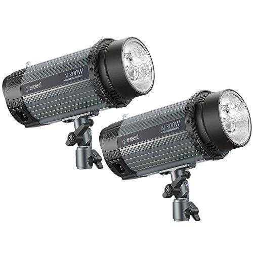 Neewer Studioblitz 2-Pack 300W 5600K Foto Studio Strobe Blitzlicht Monolight mit Modelier-Lampe, Aluminiumlegierung Speedlite für Studios Modell Fotografie, Portraitfotografie (N-300W)