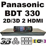 NEW PANASONIC 2D/3D CODEFREE BDT330 2K/4K, Wi-Fi, Dual HDMI, Blu-Ray Disc Player MultiZone Region Code Free DVD 012345678 PAL/NTSC Blu Ray Zone A/B/C. 100~240V 50/60Hz comes with EU & UK Mains plugs (2m Gold Plated 1.4 HDMi Lead)