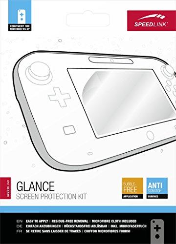 Speedlink Schutzfolien-Kit für Wii U - GLANCE Screen Protection Kit (Volle Farbbrillanz - Sicherer Schutz vor Kratzern - Blasenfrei anzubringen - rückstandslos ablösbar)