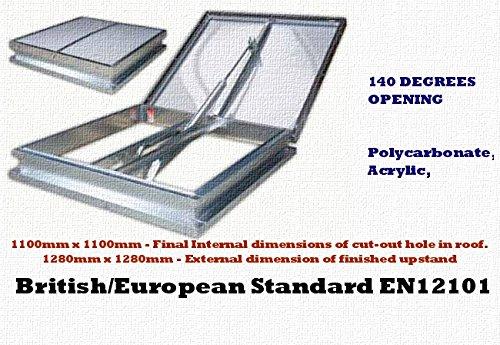 aov Dachluefter Belüftungsfenster 140 degree 1 meter Öffnung Versorgung und an den bestehenden fire alarm system ausgestattet