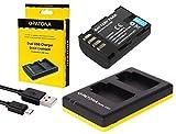 2en 1Kit pour l'Panasonic Lumix G GH5/DC-GH5?-- Premium Batterie pour de type blf19(2000mAh) + Dual Chargeur (Téléchargez 2batteries via port USB sur une fois) + Patona displaypad
