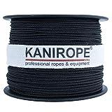 Kanirope Polyesterseil Seil Polyester POLYBRAID 2mm 100m Schwarz geflochten
