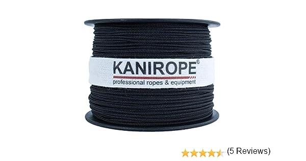 Corde Cordage en Polyester 10mm 100m Noir Tressé PES multifilament