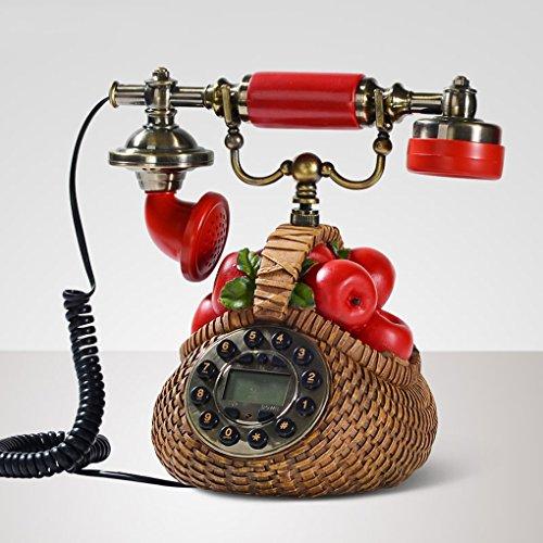 Telefoni voip continental creativo retro telefono fisso telefono di casa le mele antichi telefono blu retro telefono