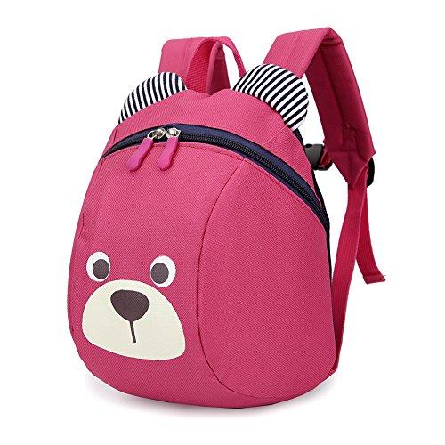 (Luerme Kinderrucksack Kleinkind Jungen Mädchen Kindergartentasche Niedlich Cartoon Bär Backpack Schultasche Rucksack (Rosig))
