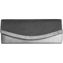 CASPAR TA291 Damen Satin Clutch