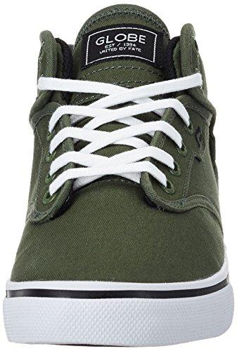 Globe Motley Mid, Chaussures de Skateboard homme Grün (Rifle Green/White)