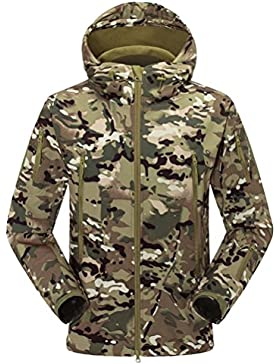 Zhhlaixing Fashion Al aire libre Cool Shark Skin Outerwear Waterproof Men Soft Hooded Jacket