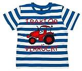 Baby & Kleinkind Blau & weiß Gestreift T-shirt 92-98 'TRAKTOR VERRÜCKT DESIGN 2'