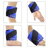 """Gel per caviglia Ice Pack con cinturino per terapia a freddo caldo - Ottimo per lesioni sportive, dolori articolari, artriti, tendiniti, lividi, dolori al tunnel carpale, distorsioni 9.4""""x 4.5"""""""