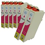N.T.T.® 7x Stück XL Tintenpatronen kompatibel zu T1283 M Magenta / Rot Epson Stylus SX125; SX130; SX235; SX235W; SX420W; SX425W, SX435W; SX440W; SX445W ; S22 ; BX305F; BX305FW; BX305FW Plus