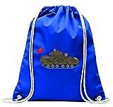 """'Turn Bolsa """"Fuerzas Armadas de armadura de Ejército de Artillería de batalla de Bradley de batalla de Arma de einmarsch de ische Militar de soldado de tanque de guerra con cordón–100% algodón de bolsa Con Asas De Mochila de bolsa de deporte, azul"""