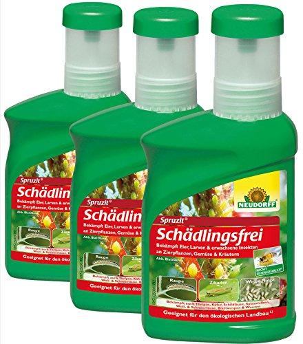 3 x 250 ml Neudorff Spruzit Schädlingsfrei Konzentrat