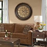@Home Plastic Wall Clock (6 cm x 61.02 cm x 61.02 cm)