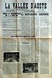 VALLEE D'AOSTE (LA) [No 1260] du 22/03/1958 - QUE LE BON DIEU BENISSE L'EGLISE LA FRANCE LA VALLEE D'AOSTE L'EMIGRATION VALDOTAINE VOEUX ET BENEDICTION DE SS PIE XII PAR MGR DELL'ACQUA SOSTITUTO L'ALLOCUTION DE SON EXCELLENCE MGR RUPP LA MERVEILLEUSE CEREMONIE PAR X IMPRESSIONS AIMEZ VOTRE JOURNAL PAR AUGUSTE PETIGAT L'ALLOCUTION DE M LE CURE DENARIER -