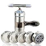 Alivier Machine Manuelle de Fabrication de Presse à pâtes de Cuisine avec 5 moules de pressage