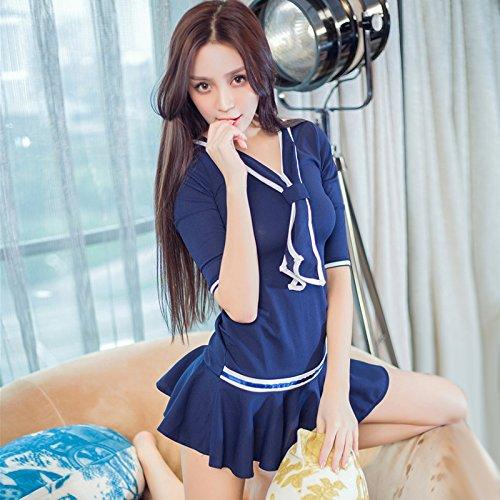 Mädchen Schule Einheitliche Kostüm - Roleeplay sexy Dessous, Extrem sexy, Nachtclub, Prinzessin, einheitliche, Leidenschaft, Minirock, Sailor, Student, Kleid, Polizistin Kleid, F, einteilige Rock