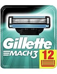 Gillette Mach3+ Lames De Rasoir Pour Homme - 12Recharges