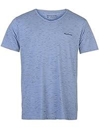 Pierre Cardin Plain Polo pour homme Gris chiné Top T-shirt Tee Large gris chiné