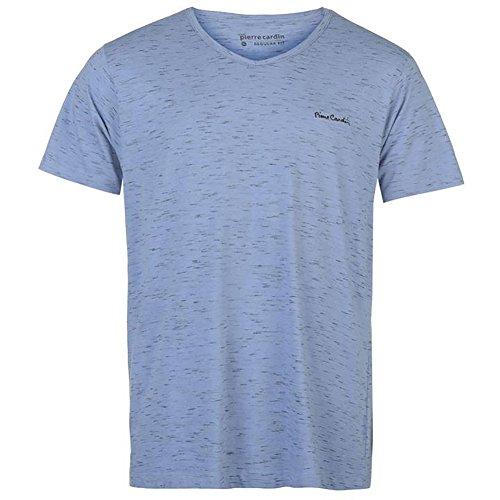 Pierre Cardin Mens neue Saison unbedingt Classic Fit V-Neck T-Shirt Blue Marl