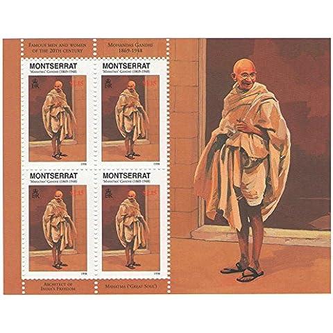 Mohandas ' Mahatma ' francobolli / SG 1071 foglio / 4 bollo / MNH / Montserrat / 1998 Gandhi Inspirational Icona indiana