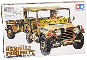 tamiya 300035130 1 35 us m151a2 ford mutt mit anh nger. Black Bedroom Furniture Sets. Home Design Ideas