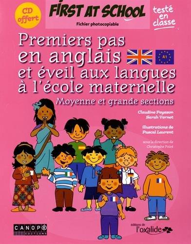 Premiers pas en anglais et éveil aux langues à l'école maternelle - Moyenne et grande sections par Claudine Peysson, Sarah Vernet, Christophe Poiré