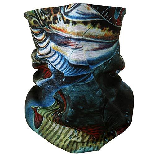 ACBungji Multifunktionstuch Gesichtsmaske Motorradmaske Sturmmaske Maske für Motorrad Ski Snowboard Snowboard Paintball Fahrrad Bergsteigen Trekking Skateboarden Angeln Köder Fische 60594