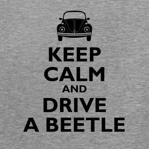 Keep Calm and Drive A Beetle - Damen T-Shirt - 14 Farben Sportlich Grau