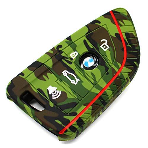 Finest-Folia - Cover in silicone per chiave auto a 4 tasti mimetico