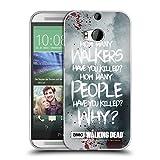 Offizielle AMC The Walking Dead Rick Questions Zitate Soft Gel Hülle für HTC One M8 / M8 Dual SIM