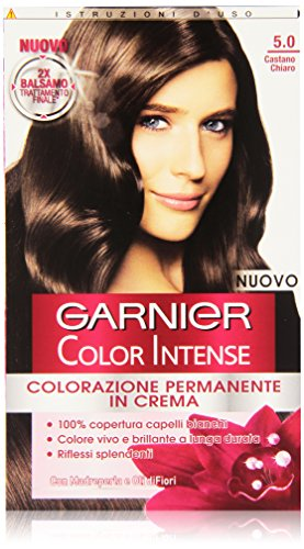 Garnier Garnier Color Intense Colorazione Permanente in Crema, 5.0 Castano Chiaro