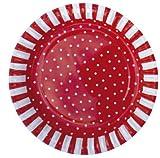 JaBaDaBaDo Partyteller, schwedisches Design, Sortiment Rottöne