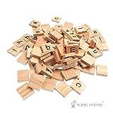Raylinedo® 200X letras de madera para Scrabble Scrabbles número Crafts Inglés palabras fijo