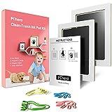 PChero 2pcs sauber Touch Baby Handabdruck und Fußabdruck sicher ungiftig Stempelkissen Kit für Neugeborene 0-6 Monate Mädchen und Jungen