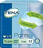 TENA Pants Super - große (L) Schutzhosen für starke Blasenschwäche / Inkontinenz - atmungsaktiv,...