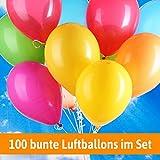 100 Luftballons Hochzeit BUNT - Helium geeignet - für Luftballons zur Hochzeit - Hochzeitsspiele und Hochzeitsbräuche + Gratis Geschenkkarte