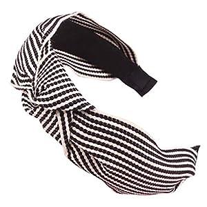 SoundJA Haarband-Stirnband Haarnadel Buntes Baumwolle Gewebtes Stirnband mit Armbrustschleife Gestreift Geflochtenes…