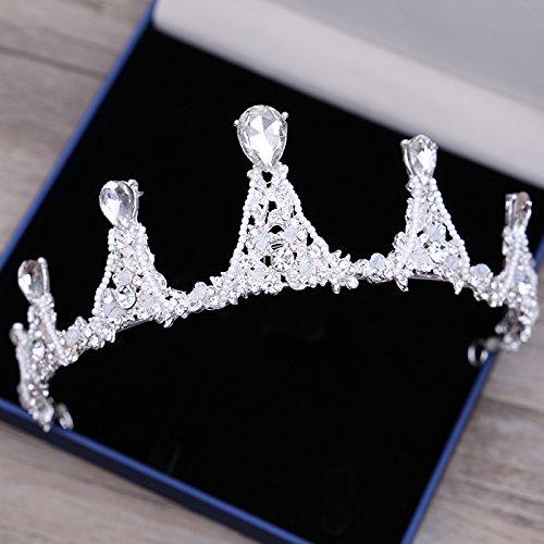 XPY&DGX Bridal Hochzeit Ballsaal Haarnadel Haarschmuck,Bridal Tiara Krone Hochzeit Atmosphäre Perlen kristall Hochzeit Zubehör Haar Accessoires Schmuck, 003 (Krone 003)