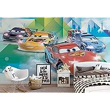 Disney Cars Lightning McQueen Camino - Wallsticker Warehouse - Fototapete - Tapete - Fotomural - Mural Wandbild - (3211WM) - XL - 254cm x 184cm - Papier (KEIN VLIES) - 2 Pieces